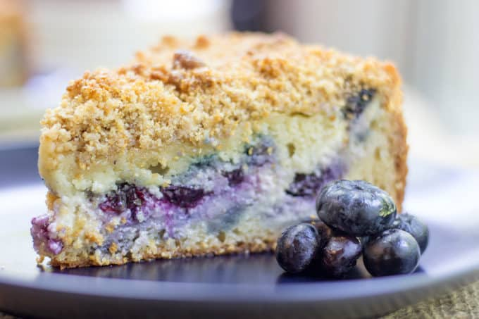Blueberry Cream Cheese Coffee Cake With A Tender Center Creamy Filling And Crunchy