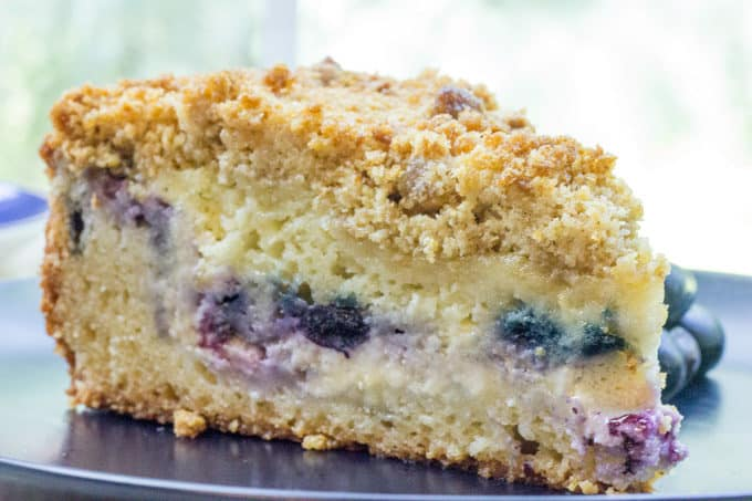 Blueberry Cake With Cream Cheese Topping