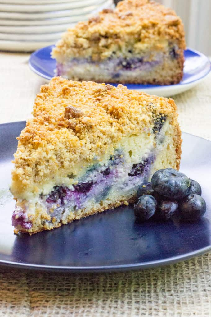 Blueberry Cream Cheese Coffee Cake with a tender center, creamy ...