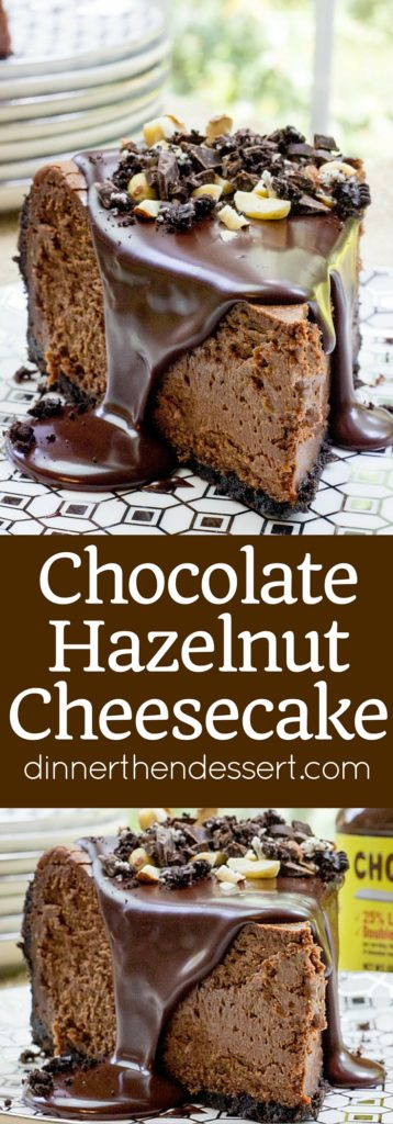 ... in a crunchy toasted hazelnut no bake chocolate hazelnut cheesecake
