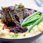 Easy Braised Short Ribs are my shortcut way to enjoy crazy tender oven braised short ribs without the hour of prep they'd normally need.