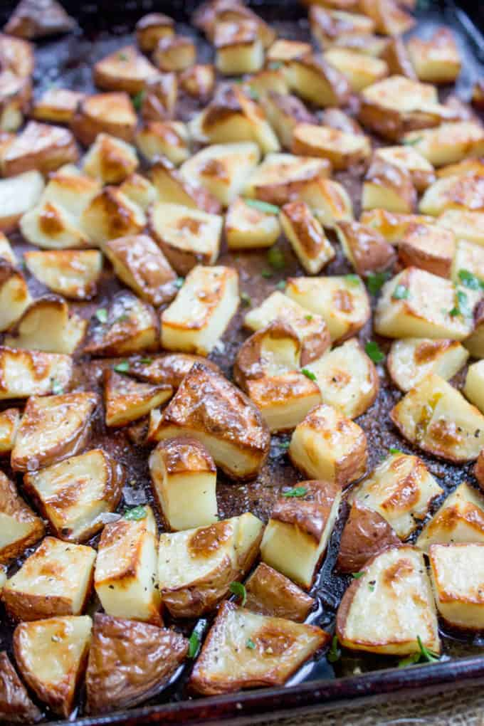 Oven Roasted Red Potatoes are an easy side dish that takes just a few minutes of prep and makes the perfect side dish for your favorite meal.