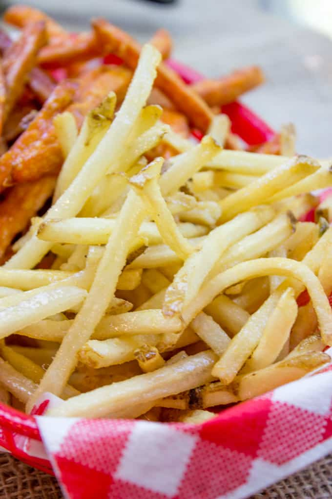 How to cut fries shoestring style