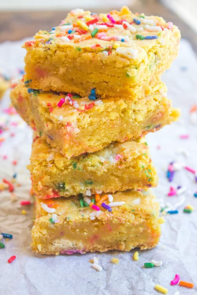 Strange Cake Batter Blondies Dinner Then Dessert Funny Birthday Cards Online Fluifree Goldxyz