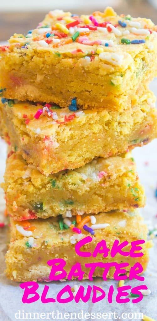 Excellent Cake Batter Blondies Dinner Then Dessert Funny Birthday Cards Online Fluifree Goldxyz