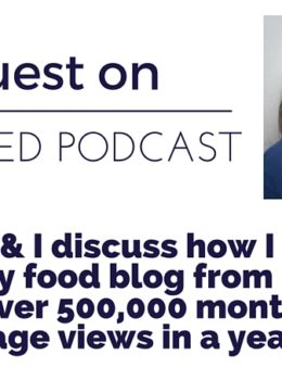 Sabrina Snyder, Blogger from Dinner, then Dessert talks about how she grew her blog from 0 to 500,000 monthly page views in one year.