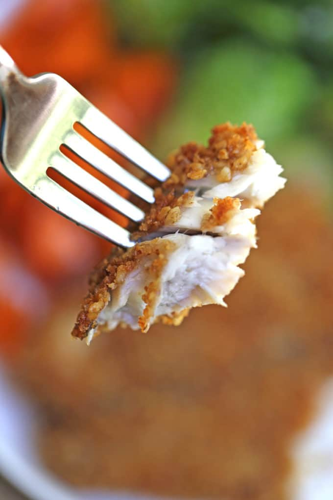 Pecan Crusted Barramundi is a breeze to make with a mixture of pecans and panko, this flaky white fish shines with just a few minutes of prep!