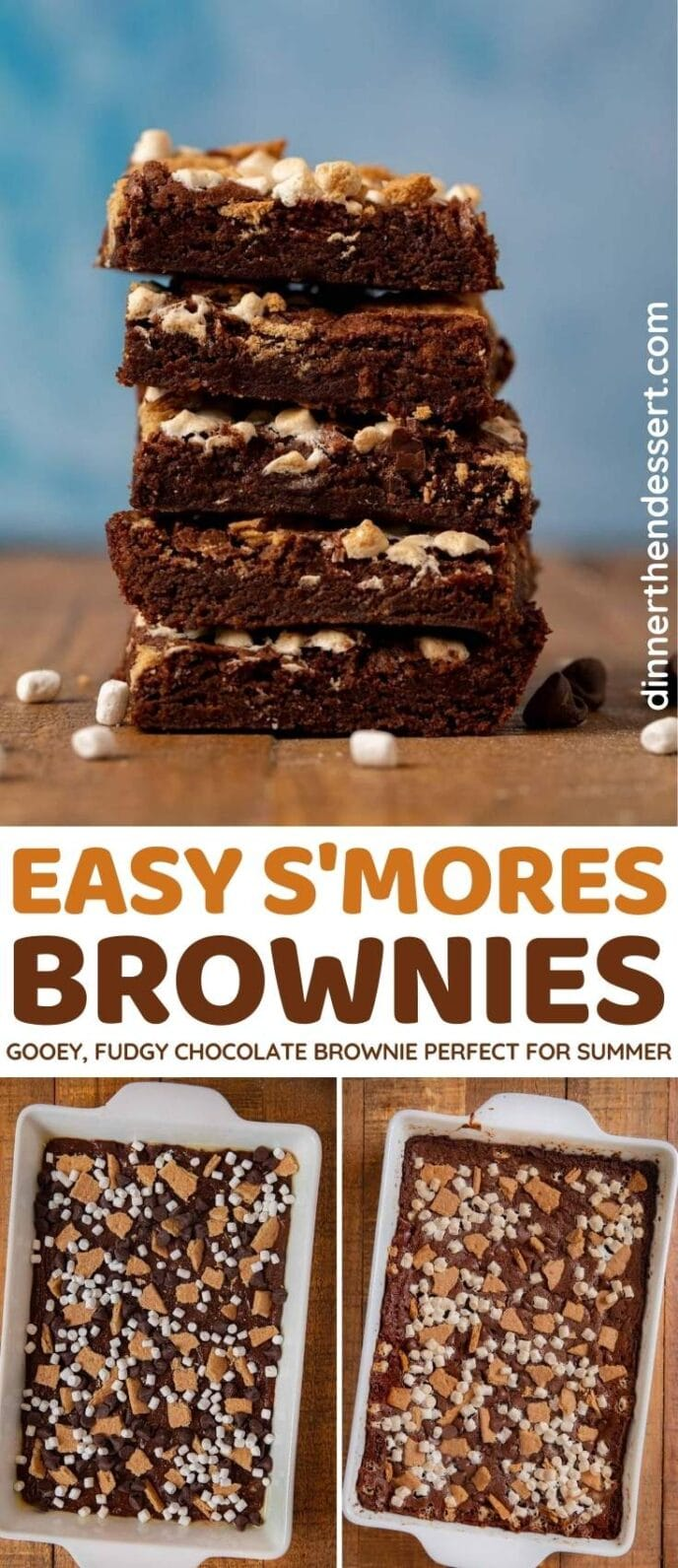S'mores Brownies collage