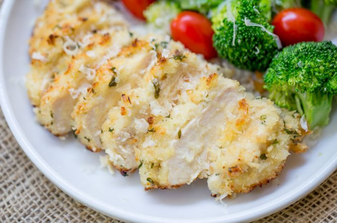 Crispy Baked Lemon Parmesan Chicken