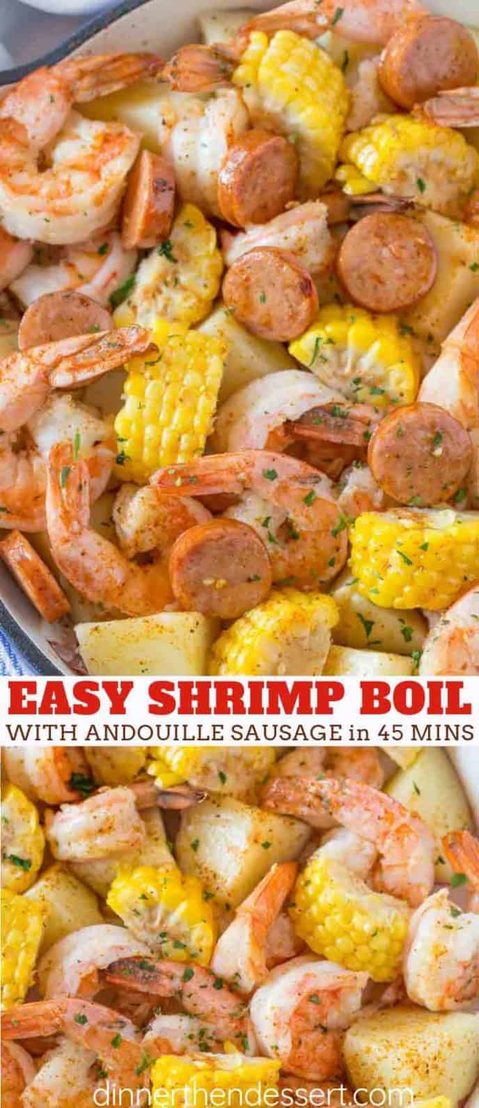 Shrimp and Sausage Boil with Corn and Potatoes