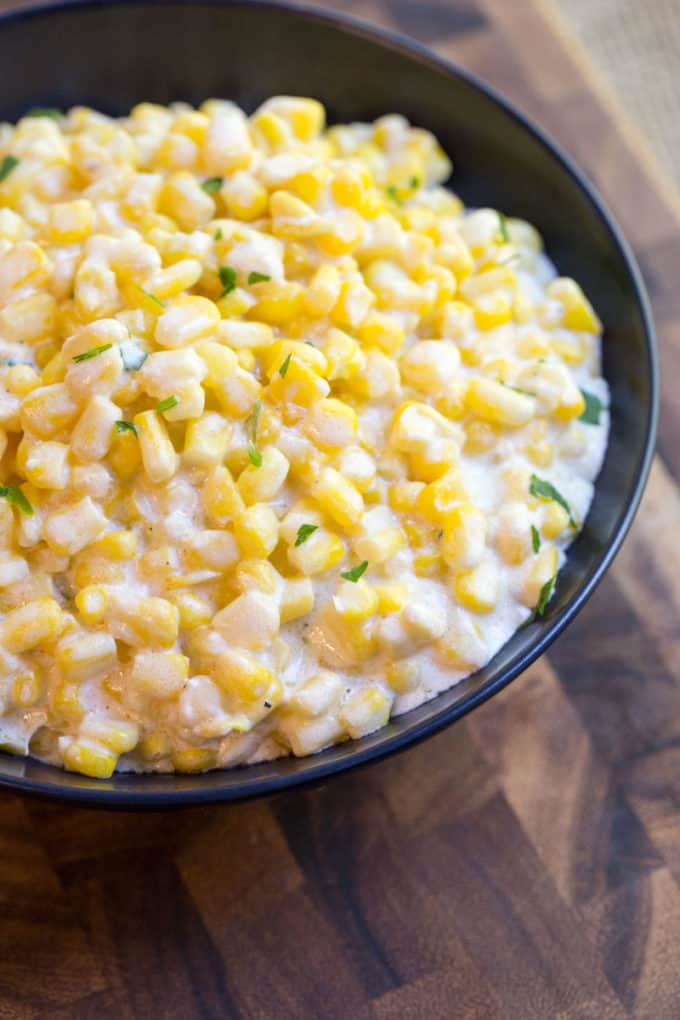Creamed Corn made in a slow cooker is super creamy