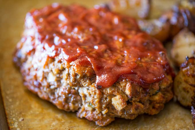 Free form Brown Sugar Meatloaf made with meatloaf recipe using brown sugar
