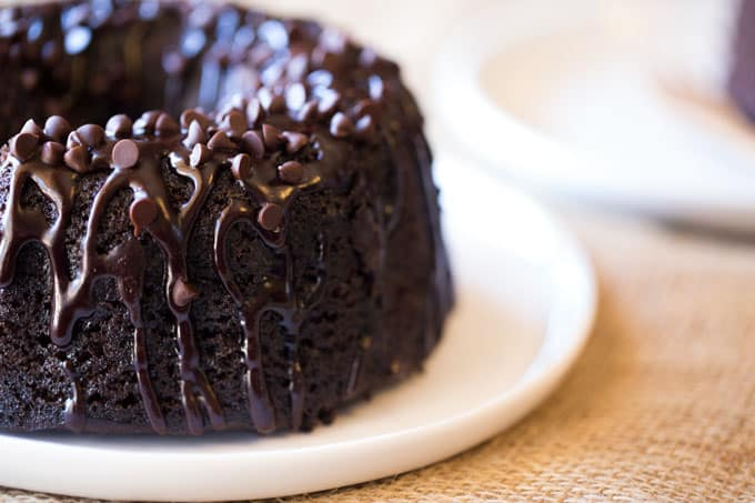 Chocolate Cake With Chips And Pudding