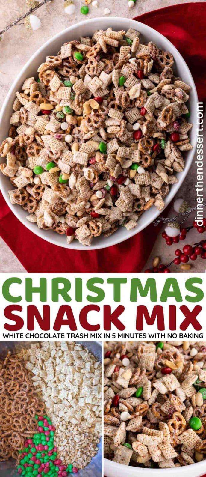 Christmas White Chocolate Trash Mix Collage