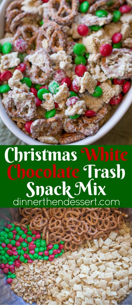 Chex Mix Christmas.Christmas White Chocolate Trash Snack Mix Dinner Then Dessert