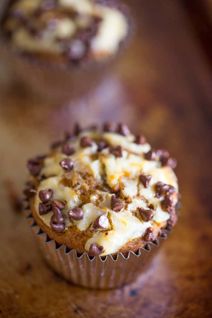 Chocolate Chip Pumpkin Cream Cheese Muffins 4 680x1020 Calories In One Cup Of Coffee With Cream And Sugar