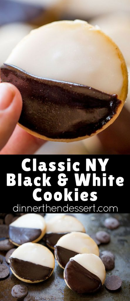 Black and White Cookies make the perfect addition to your holiday cookie plate and you don't have to travel to New York to get the authentic flavors and those two delicious signature vanilla and chocolate glazes!