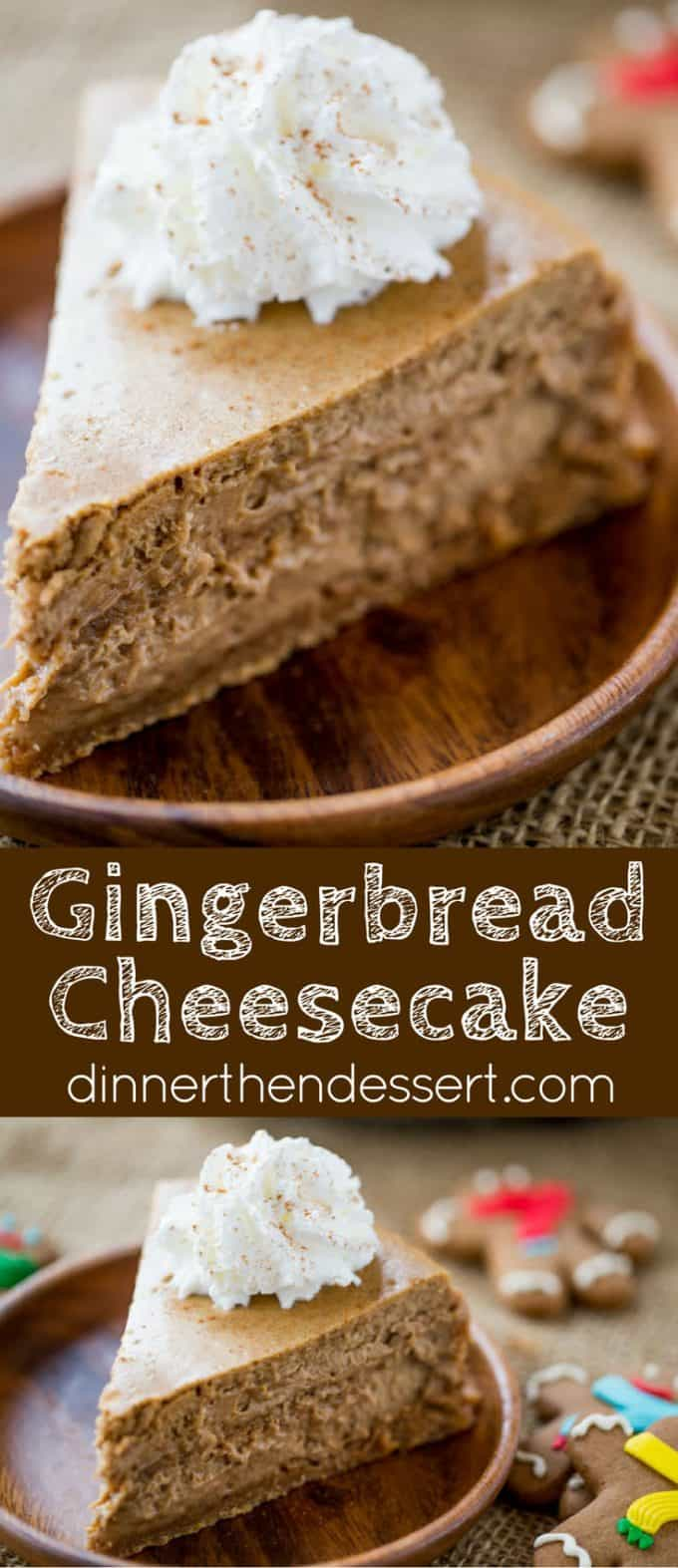 Gingerbread Cheesecake is creamy and tangy and full of warm holiday ...