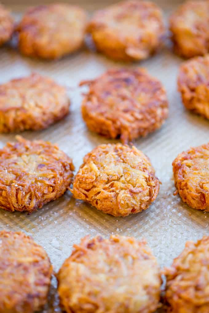 Perfect Potato Latkes with just a few ingredients and a bit of soaking time have the crispiest exteriors with the fluffiest centers. There won't be a single one left over.
