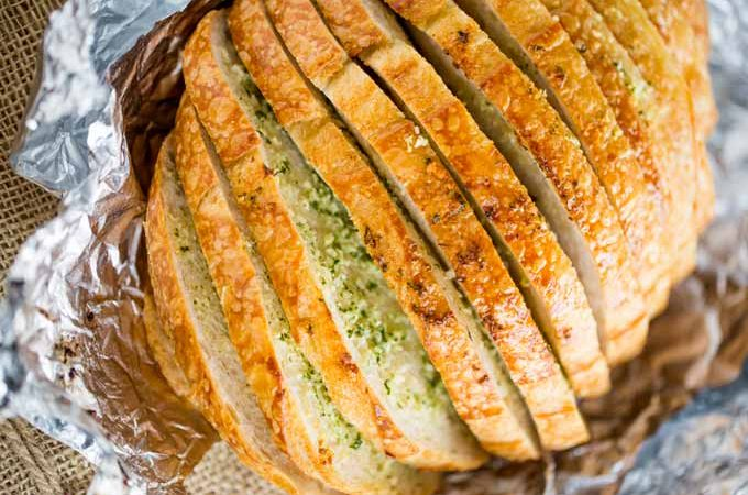 Sliced Garlic Bread Loaf (For a Crowd!)
