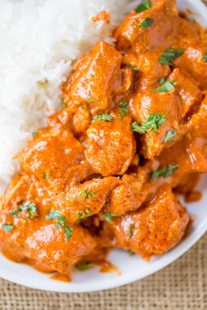 Slow Cooker Indian Butter Chicken Recipe - Dinner Then Dessert-7619