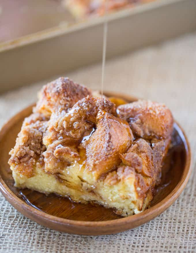 Easy French Toast Bake with no overnight chilling and all your favorite French Toast flavors you