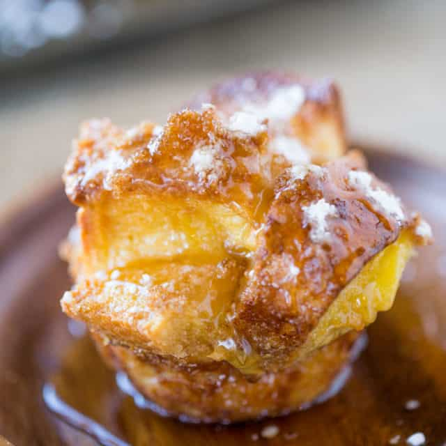 French Toast Muffins are easy to toss together with ingredients you already have in your kitchen and they?re a perfect brunch dish for a crowd and fun to pull apart.