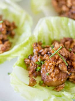 P.F. Chang's Chicken Lettuce Wraps is the most popular item on the menu for good reason with chicken, chestnuts and a delicious sauce, they're healthy and addicting!
