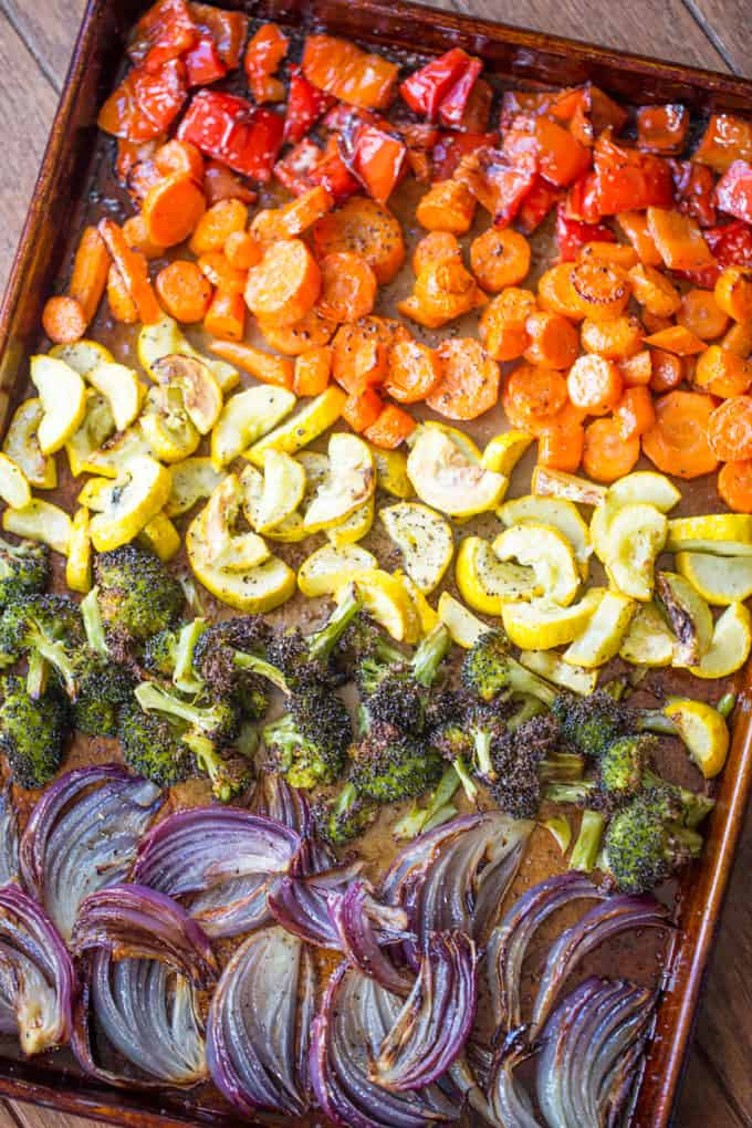 Rainbow Roasted Vegetables Dinner Then Dessert