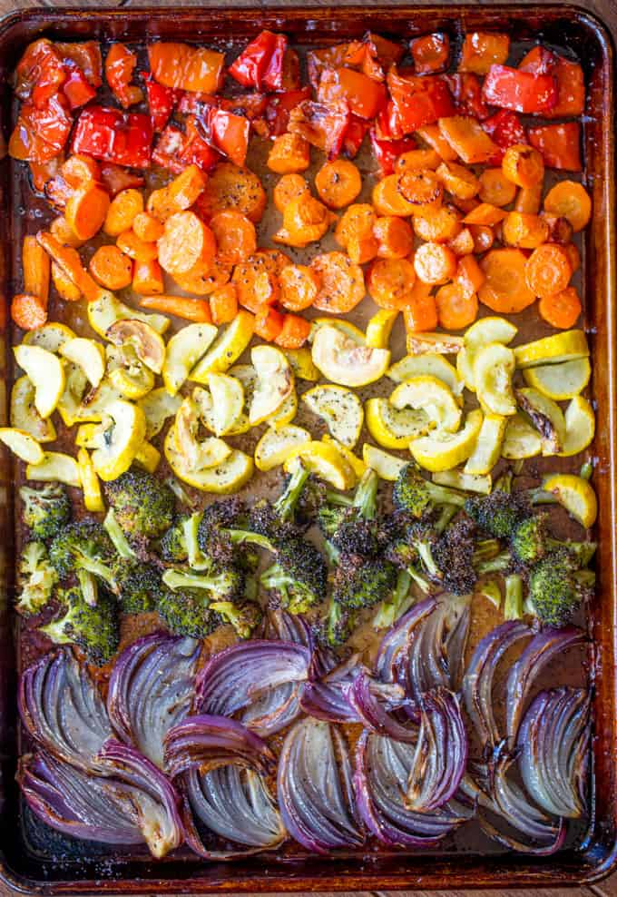 Rainbow Roasted Vegetables Dinner Then Dessert