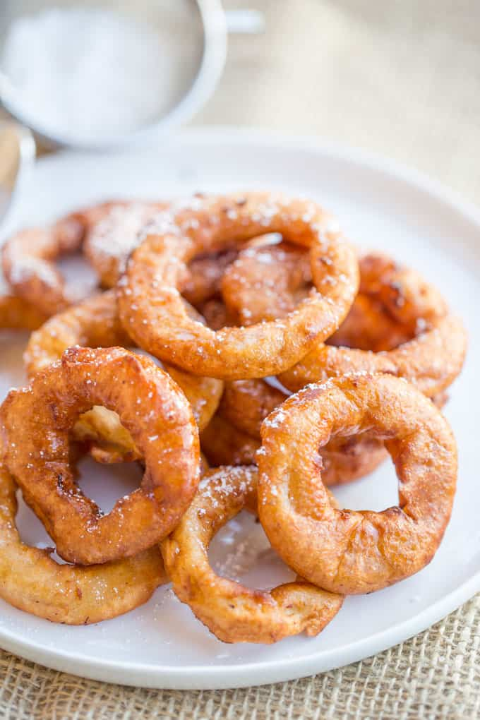 Apple Fritter Rings Dinner Then Dessert