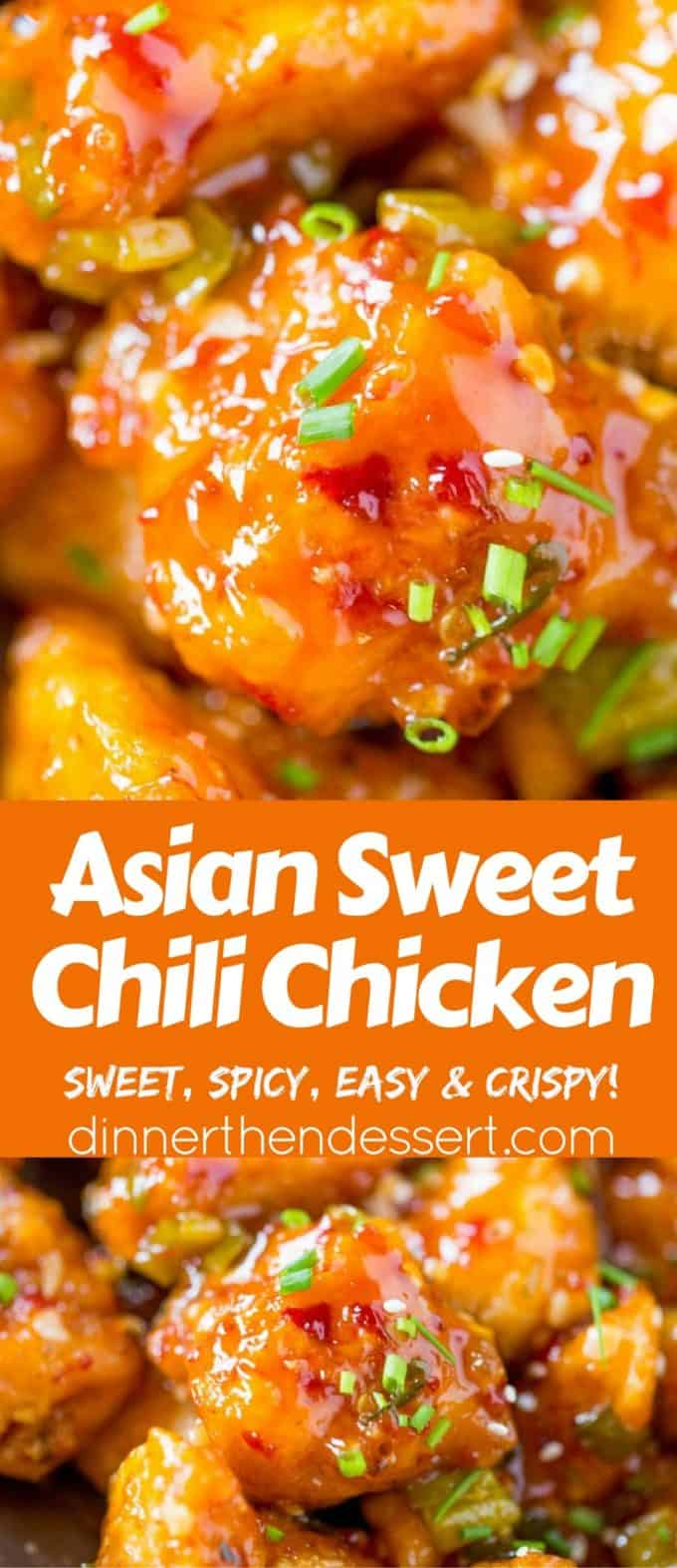 Asian sweet chili chicken dinner then dessert asian sweet chili chicken is so crispy sticky sweet slightly spicy and completely forumfinder Choice Image