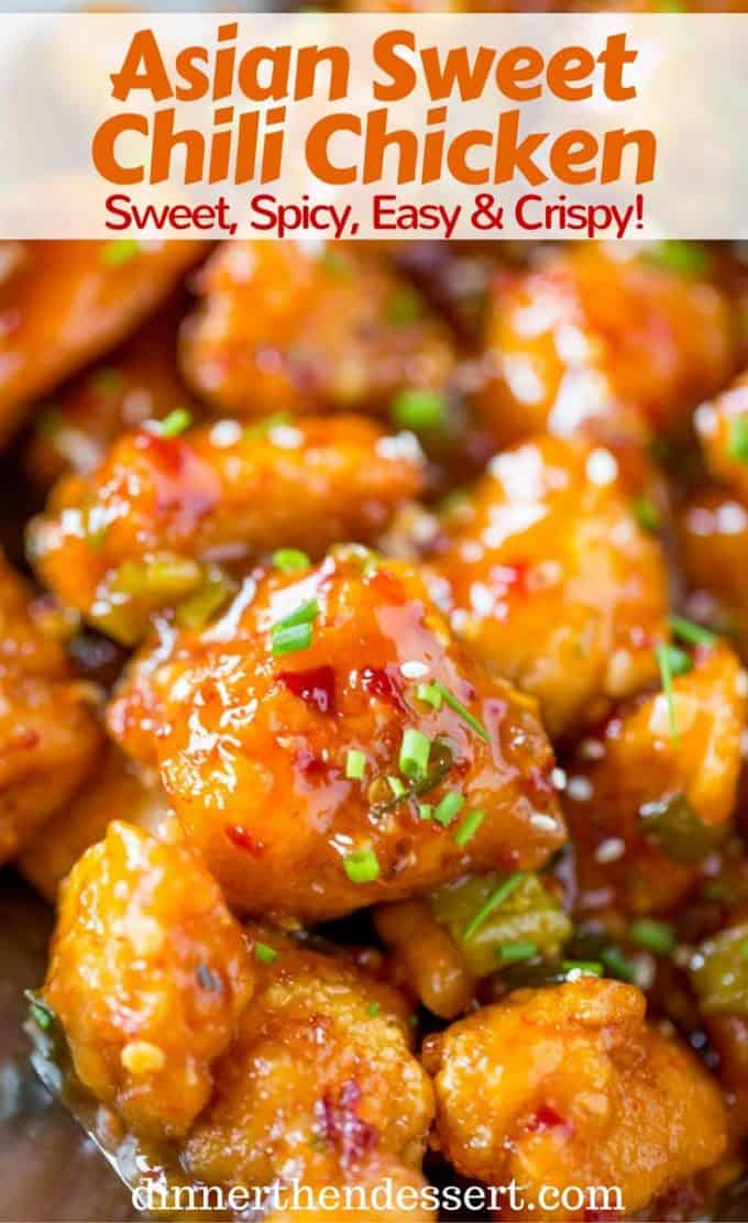 Asian Sweet Chili Chicken is so crispy, sticky, sweet, slightly spicy and completely addicting you won't even miss your favorite Asian takeout.