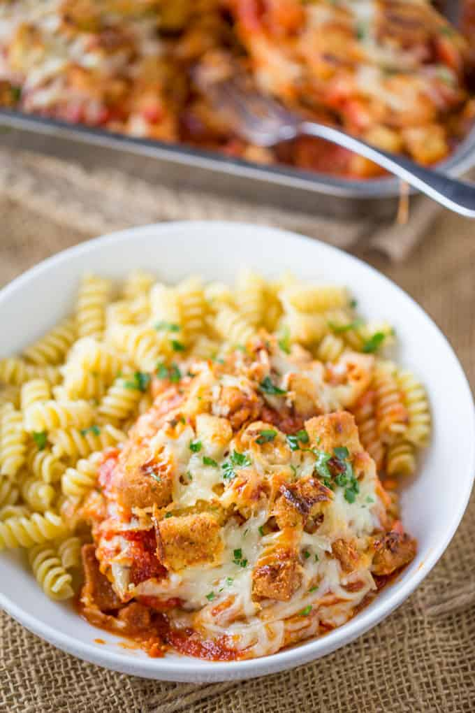 Chicken Parmesan Casserole - Dinner, then Dessert