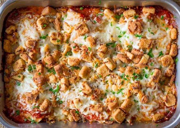 Chicken Parmesan Casserole Dinner Then Dessert