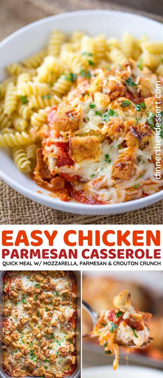 Chicken Parmesan Casserole collage