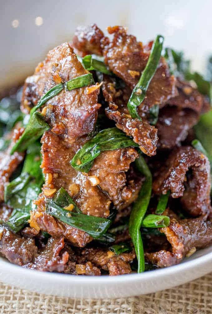 Easy mongolian beef dinner then dessert mongolian beef thats easy to make in just 30 minutes crispy sweet and full forumfinder Choice Image