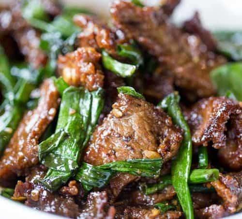 Easy Mongolian Beef Dinner Then Dessert