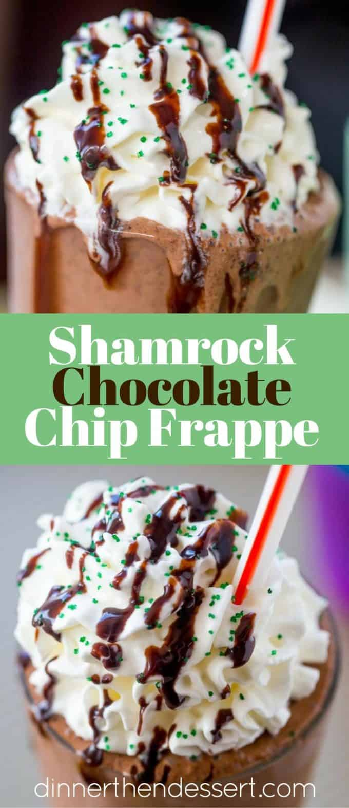 McDonald's Shamrock Chocolate Chip Frappe (Copycat) - Dinner, then ...
