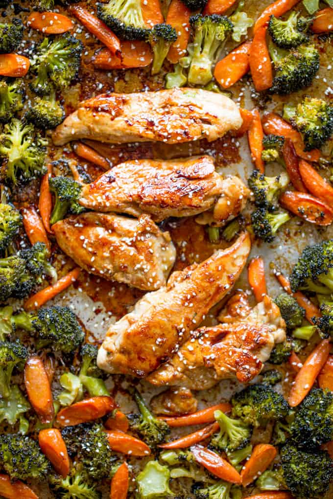 Sheet pan korean chicken and vegetables dinner then dessert sheet pan korean chicken and vegetables are a delicious and easy weeknight meal that cooks in one pan and makes crispy tender vegetables and moist sweet and forumfinder Choice Image