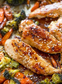 Sheet pan korean chicken and vegetables dinner then dessert sheet pan korean chicken and vegetables are a delicious and easy weeknight meal that cooks in forumfinder Images