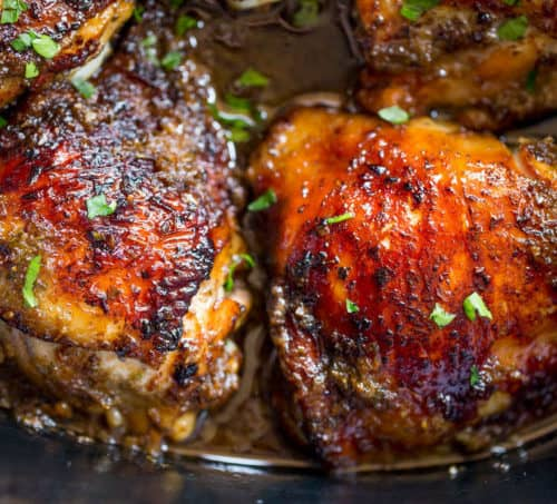Slow Cooker Jerk Chicken is a quick recipe with fantastic authentic Jamaican flavors of peppers, onions, allspice and cloves and with no mess to clean up.