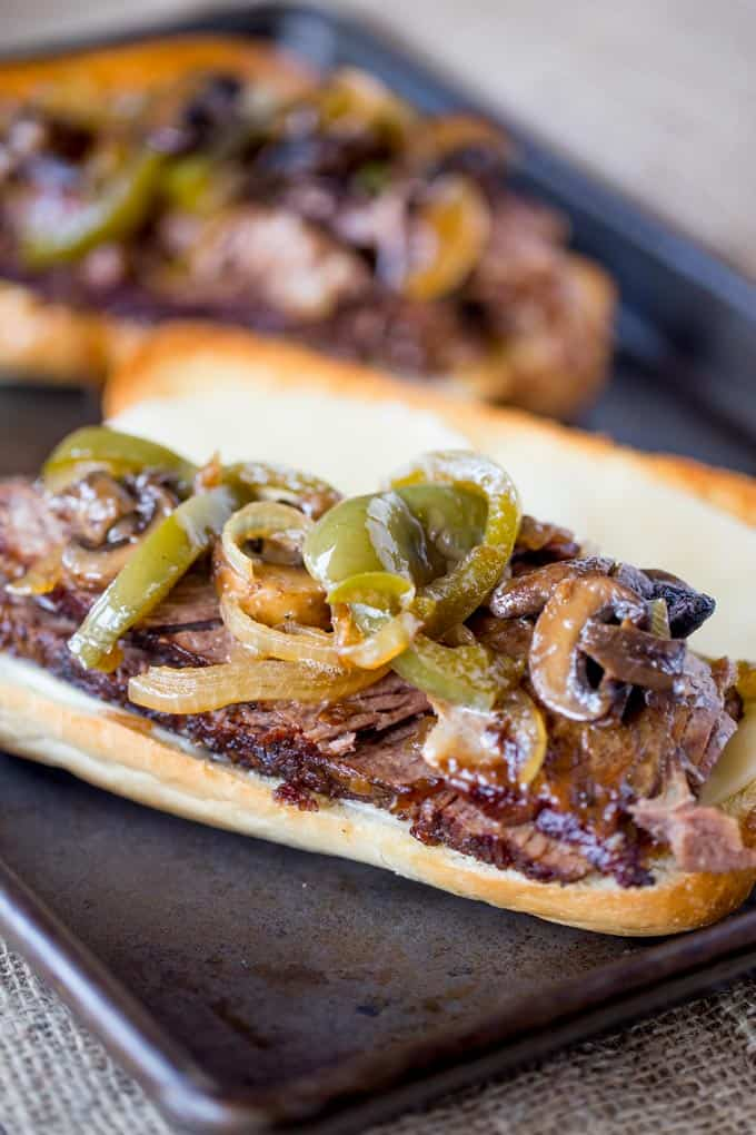 Slow Cooker Philly Cheese Steak Sandwiches - Dinner, then ...