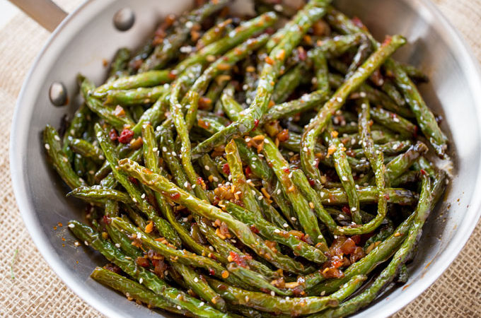 Spicy Chinese Sichuan Green Beans are the perfect easy side dish to ...