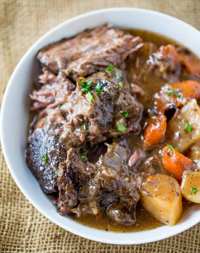 Ultimate Slow Cooker Pot Roast Dinner Then Dessert