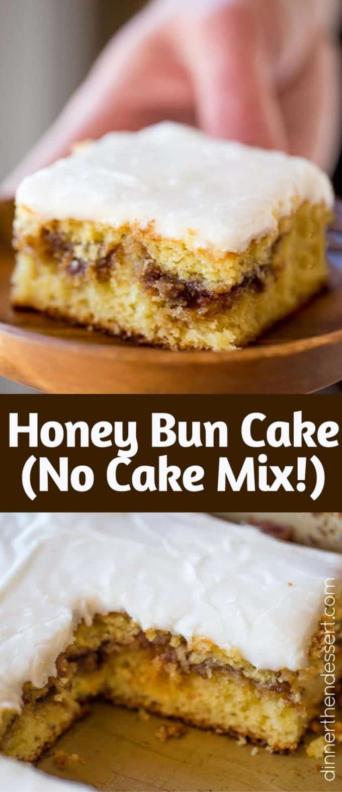 Easy Honey Bun Cake Without Sour Cream