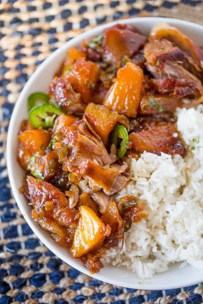 Slow Cooker Jalapeno Pineapple Pork - Dinner, then Dessert