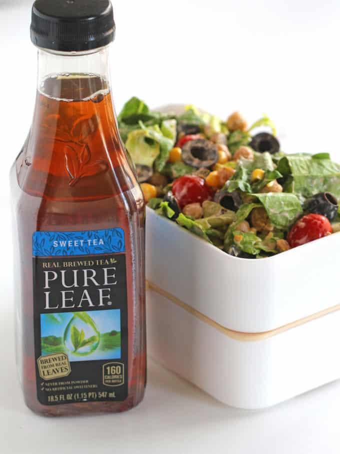 Chickpea Tex Mex Salad served with Sweet Tea