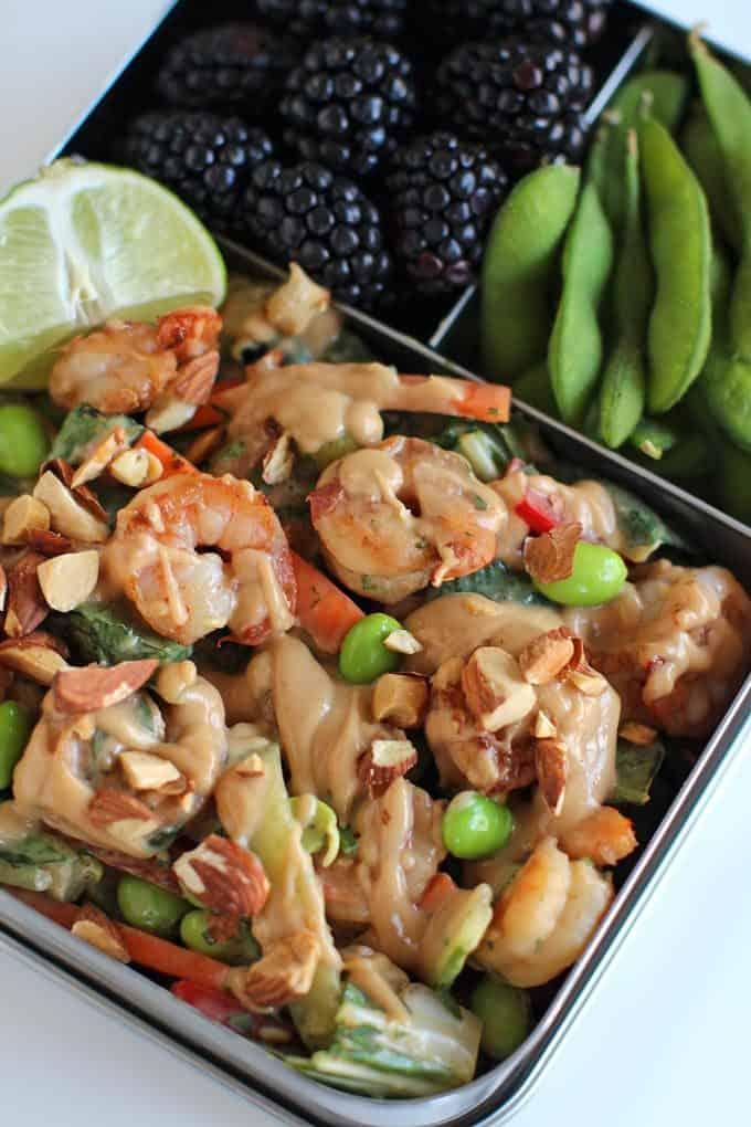 Thai Shrimp Crunch Salad - Dinner, then Dessert
