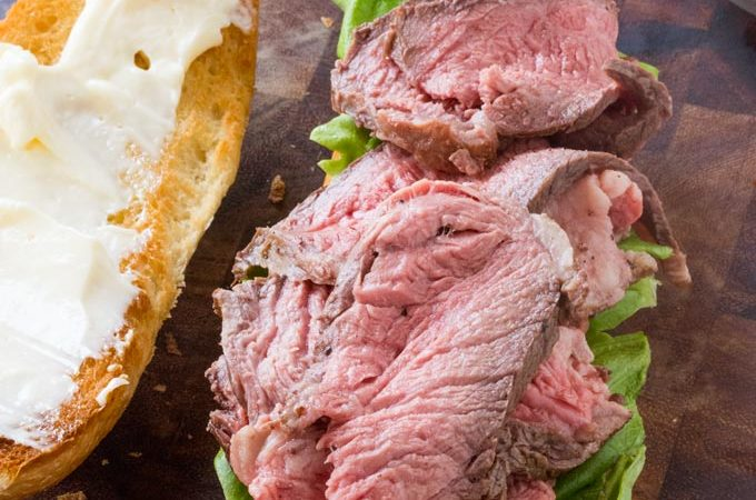 Slow Cooker Roast Beef Sandwiches with Horseradish